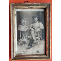 Фото солдата. 10х15 см. В рамке.