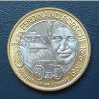 50 шилингов 2000 год. Австрия. Фердинанд Порше.