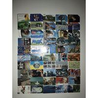 Лот телефонных карт разных стран 50 штук #4