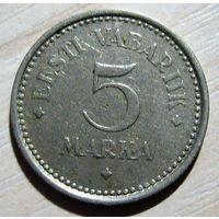 5 марок 1922 г. Эстония.