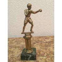 Статуэтка Боксёр (спортсмен), бронза/ камень