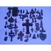 Старые Крестики Ag,части крестиков старинных.