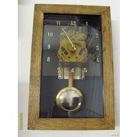 Часы ретро в стиле техно. Янтарь - скелетон!!