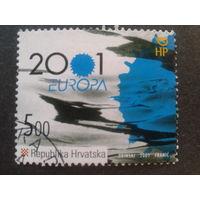Хорватия 2001 Европа Mi-2,0 евро гаш.