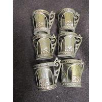 Подстаканники сувенирные миниатюрные Олимпиада 80 . 6 штук