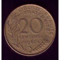 20 сантимов 1962 год Франция