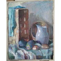 Неизвестный художник. Натюрморт. 1980-е. Холст масло. 47х60 см.