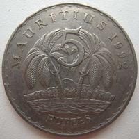 Маврикий 5 рупий 1992 г. (g)
