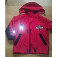 Курточка детская ветровка красно-синяя