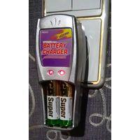 Зарядное устройство для  4-х батареек АА