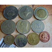 Южная и Центральная Америка. 10 монет-10 стран 1967-2000 г.(2)