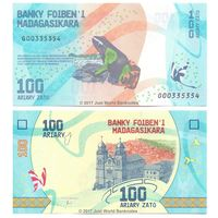 Мадагаскар 100 ариари образца 2017 года UNC p97