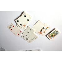 Редкие карты игральные, остатки с 4 колод