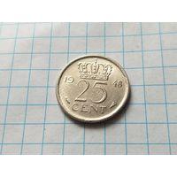 Нидерланды 25 центов, 1948