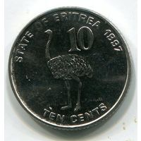 (A3) ЭРИТРЕЯ - 10 ЦЕНТОВ 1997 UNC