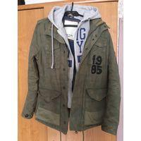Стильная куртка Hilfiger Denim, милитари, размер S. Торг