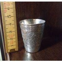 Красивая старинная рюмочка. Серебро, Ag900. Около- 1900-х гг. Сувенир из Ирана.