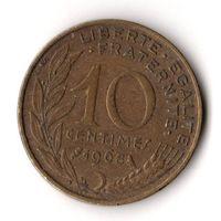 Франция 10 сантимов 1968