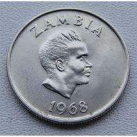 "Замбия. 5 нгве 1968 год КМ#11 ""Цветок - Утренняя слава"""