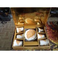 Кофейный сервиз Yamasen, Япония. 24-каратное золотое покрытие.