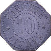 РАСПРОДАЖА!!! - ГЕРМАНИЯ ЛИНДЕН 10 пфеннигов 1917 год