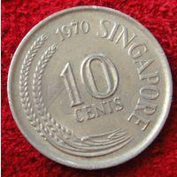 7514:  10 центов 1970 Сингапур