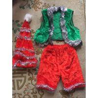 Новогодний карнавальный костюм на 2-3 года НОВЫЙ