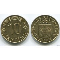 Латвия. 10 сантимов (2008)