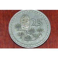 25 милей 1963 Кипр КМ# 40 медно-никелевый сплав