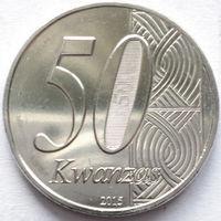 АНГОЛА 50 КВАНЗА 2015 г. 40 лет НЕЗАВИСИМОСТИ UNC!