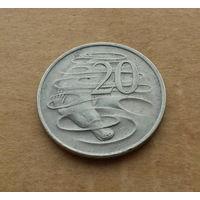 Австралия, 20 центов 1982 г., молодая королева