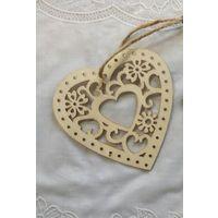 Валентинки сердечки украшения из дерева 10шт