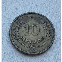 Чили 10 сентесимо, 1964 5-13-28