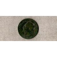Франция 10 сантимов 1856/Наполеон/(Oct)