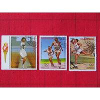 """Парагвай.1983. Олимпийские игры """"Лос-Анжелес-84"""". Сер. 3 м."""