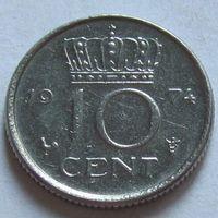 Нидерланды, 10 центов 1974 г