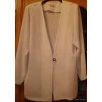 Белый фирменный пиджак, р-р 50-52