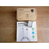 Зарядное устройство Orico WHA-2U на 2 порта + дата-кабель Orico USB-C