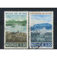 Норвегия 1992 250 лет Молде и Кристиансунду  Виды городов Полная #1098-9