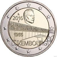 2 евро 2016 Люксембург- 50 лет мосту великой герцогини Шарлотты - UNC