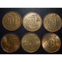 Финляндия 20 пенни (список)