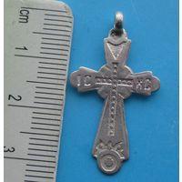 Старинный серебряный крестик 84 пр .
