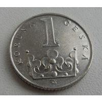 1 крона Чехия 1993 г.в., KM# 7 KORUNA, из коллекции