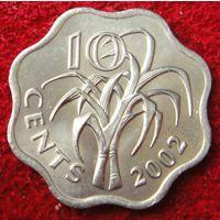 6827:  10 центов 2002 Свазиленд