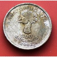 124-29 Уганда, 500 шиллингов 2003 г.