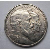 Германия, Баден, 2 марки, 1906, серебро