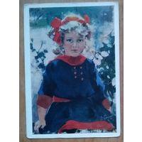 Сварог В. Портрет девочки. 1986 г. Чистая