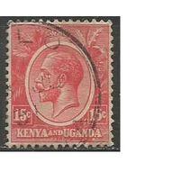 Кения и Уганда. Король Георг V. 1922г. Mi#5.