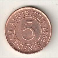Маврикий 5 цент 2007