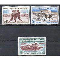 Национальный спорт Сенегал 1961 год 3 чистые марки